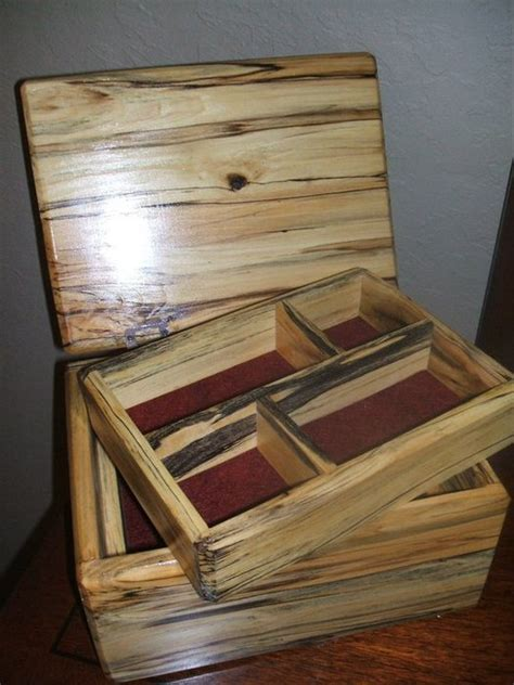 Spalted Poplar Jewelry Box By Code28woodworks