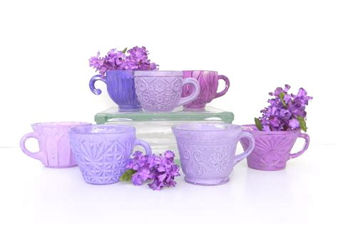 shabby chic purple shabby chic purple collection of teacups for home wedding
