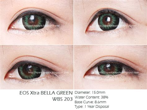 Softlens Geo Xtra Green Hijau 15mm Wbs 203 the best review eos yuna brown geo xtra green