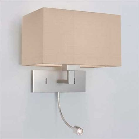 Over Bed Wall Light With Integral Led Book Light Hotel Wall Lights For Bedrooms