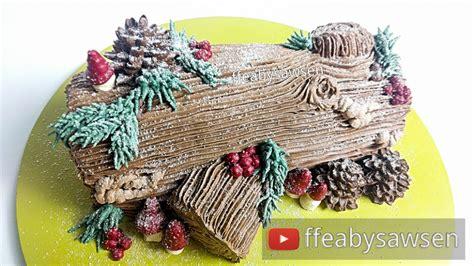Buche De Noel Design by Chocolate Yule Log Cake Buche De Noel Tutorial Recipe