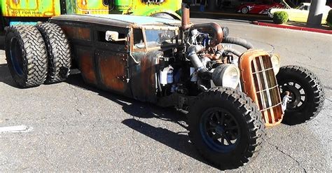 welderup quot train car quot dually rat rod sema 2015 youtube