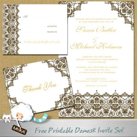 Free Wedding Invitations Printable Cards by Formal Wedding Invitations Free Printable Wedding Invitations