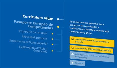 Plantilla Curriculum Union Europea Curr 237 Culum Vitae Europeo Plantillas Y Modelos Para Descargar