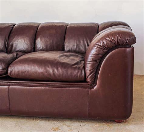 poltrona frau leather leather sofa by poltrona frau at 1stdibs