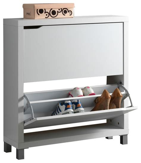 contemporary shoe storage baxton studio simms white modern shoe cabinet modern