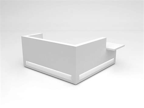 Modular Solid Surface 174 Reception Desk Blok Configuration 9 Modular Reception Desk