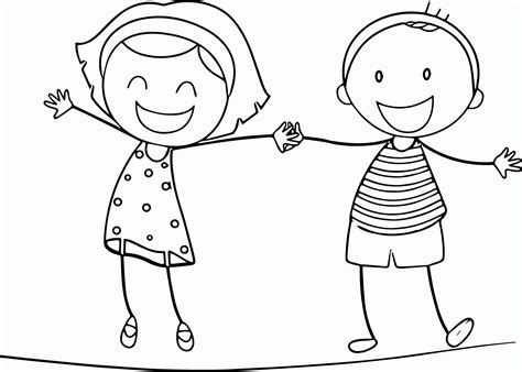 boy and girl coloring pages for kids and for adults az