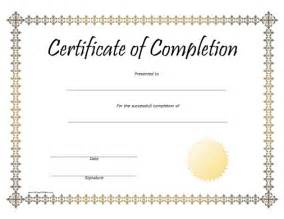 free printable certificate of completion template pin certificate of completion templates on