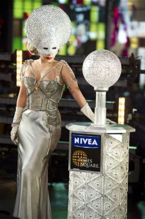 gaga new years gaga new years 2011 dress mayor bloomberg