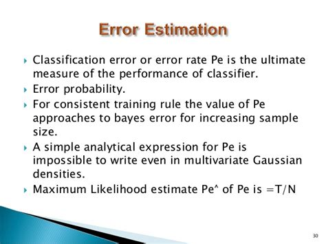 pattern classification error statistical pattern recognition 1