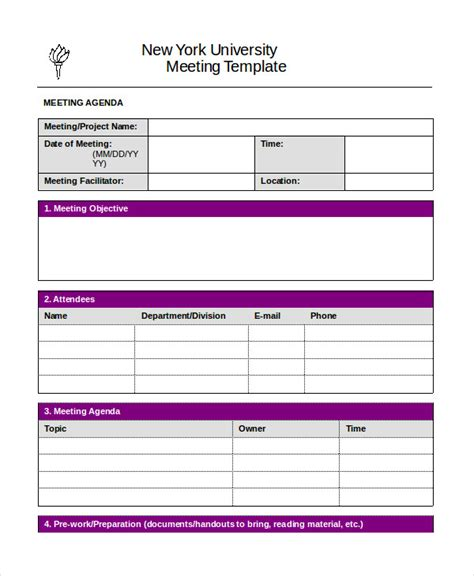 sle agenda template word word agenda template 6 free word documents