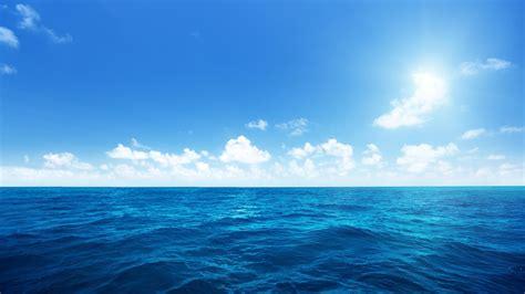 wallpaper of blue sea wallpaper blue sea sea blue sky white clouds ocean