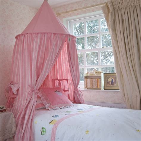 kids bed canopy pastel pink gingham hanging tents