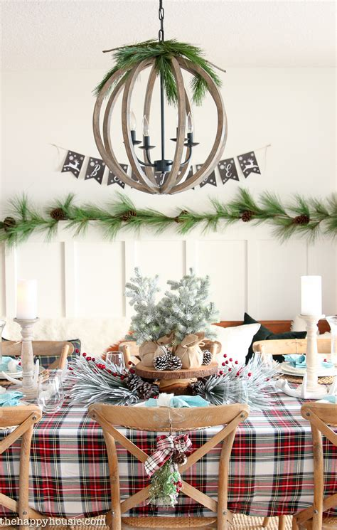 classic tartan plaid christmas tablescape decor  happy housie
