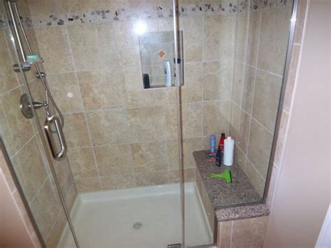 how to replace a bathtub with a walk in shower guest bath replaced tub with walk in shower