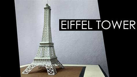 How To Make A Tower With One Of Paper - how to make a model of eiffel tower model with