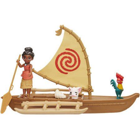 moana figures with boat disney moana adventure canoe walmart