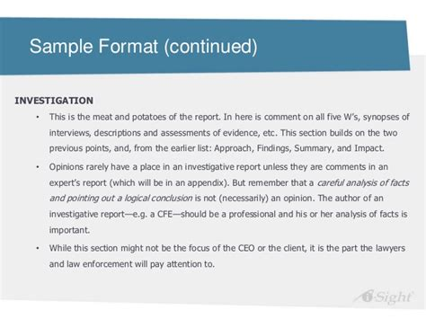 fraud investigation report template effective investigation reports derek knights i sight