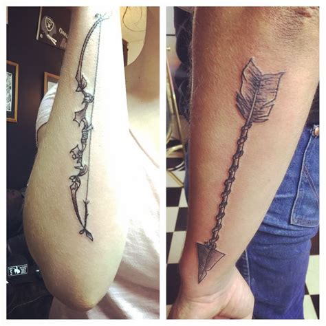 bow and arrow couple tattoo bow and arrow couples my boyfriend and i got