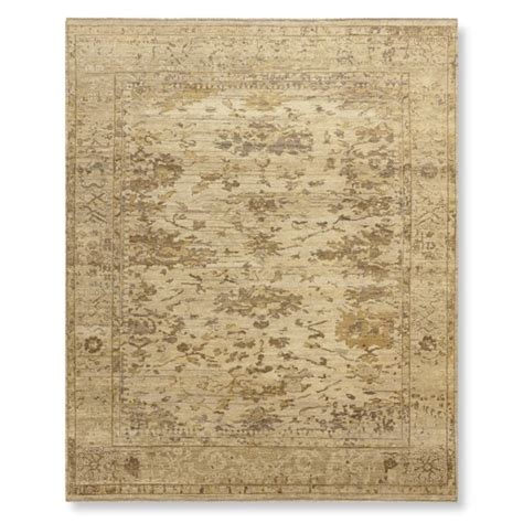 williams sonoma home rugs antiqued tonal knotted rug williams sonoma