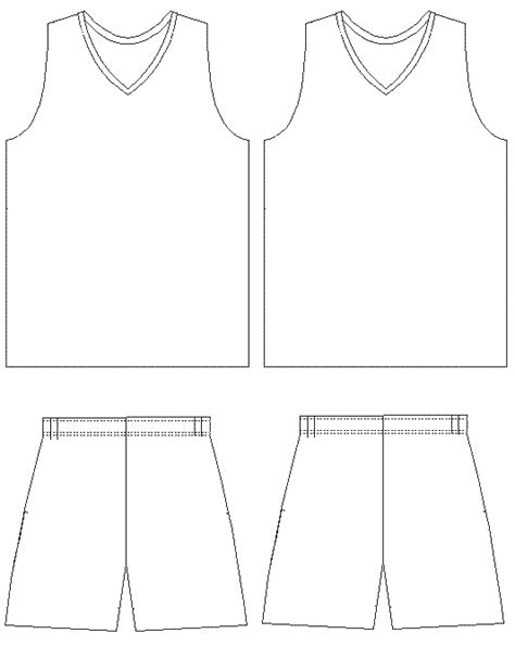 blank basketball jersey template cliparts co