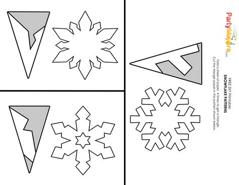 printable paper snowflake directions diy make easy pretty paper snowflakes paper