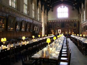 hogwarts dining room a postcard from oxford