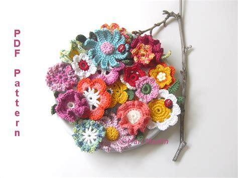 crochet pattern flower applique crochet flower applique pattern crochet colorful