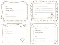 fill in the blank thank you card template thank you note template for free notes template