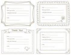 thank you note template for free notes template