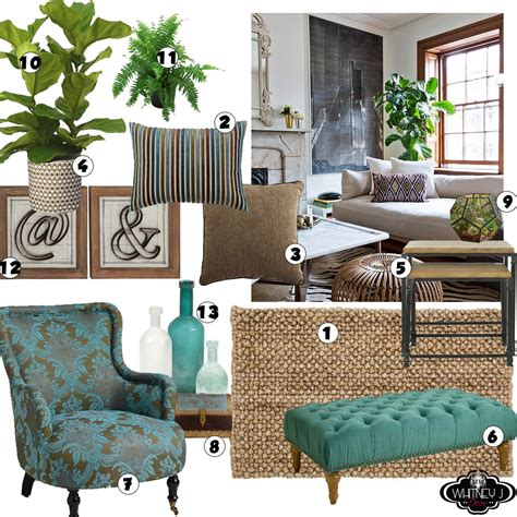 Turquoise Living Room Decor Living Room Design Board With Elements Neutral Colors And A Pop Of Turquoise