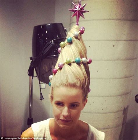christmas tree hair do hair raising trend sees style their hair in to a tree daily mail