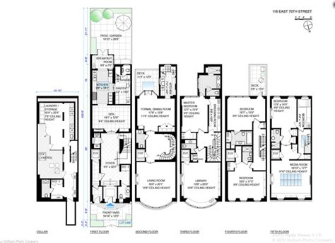 townhouse house plans 33 million 5 story townhouse in new york ny homes of