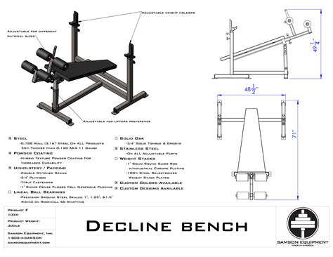 is decline bench easier click here to see cut sheet for product specifications