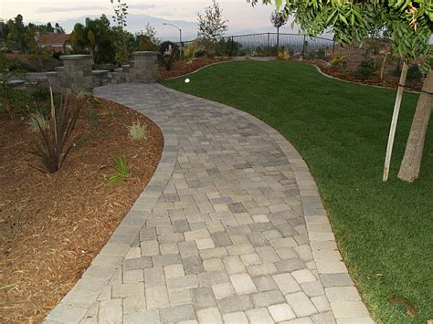 after paver walkway landscape and design