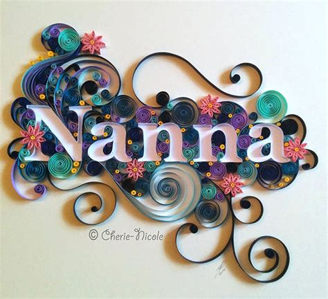 Name Design Ideas by Quilled Name Design On Behance