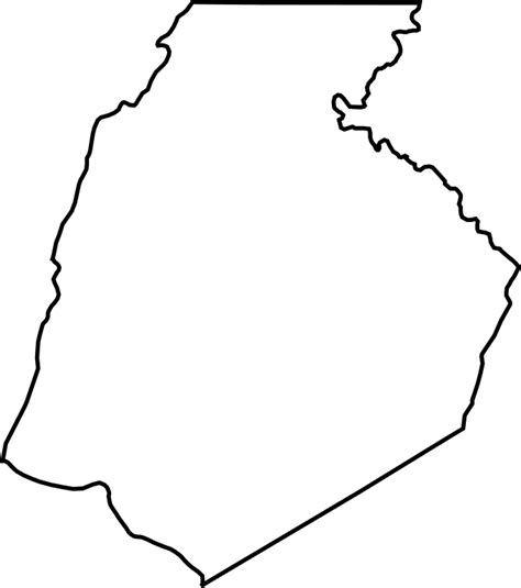Frederick County Search File Frederick County Outline Svg Wikimedia Commons