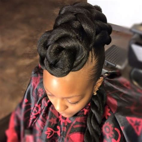pictures of african american braided updo hairstyles to the side elegant african american braided updo hairstyles african