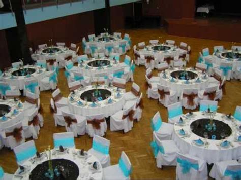 turquoise blue brown wedding