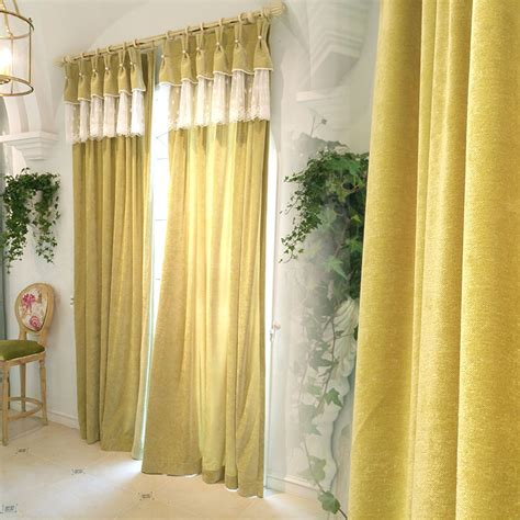 elegant bedroom curtains yellow lace print velvet thermal custom elegant bedroom or