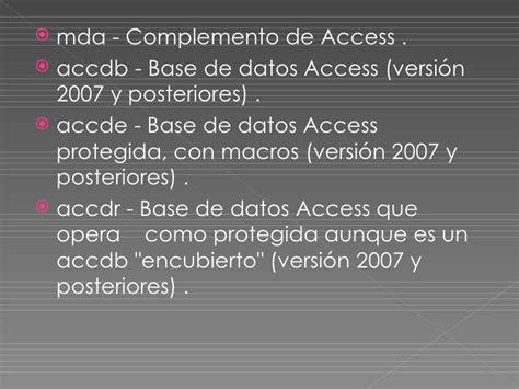 conectar base de datos de access accdb con excel partes de la ventana de access y descripci 243 n