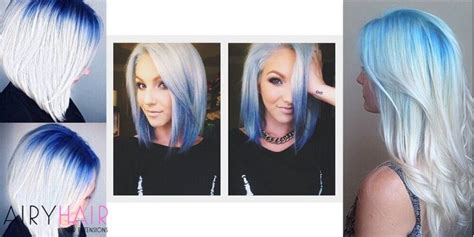 white and blue hair extensions 15 pink teal and blue ombre color
