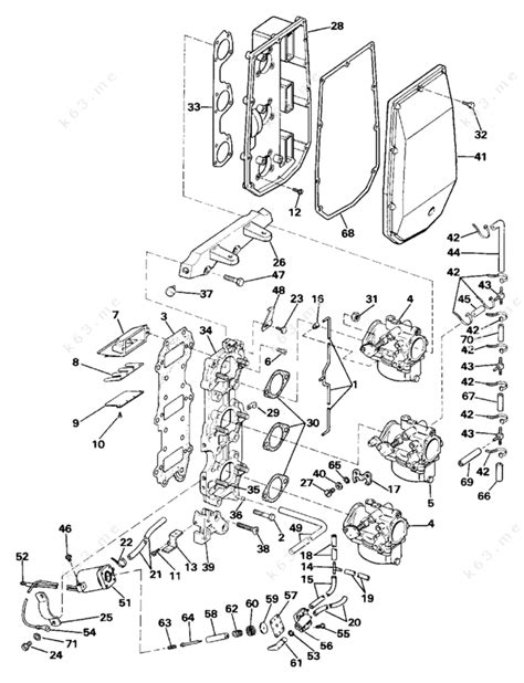 Evinrude 1987 75 E75ecur Intake Manifold Parts Catalog