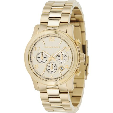 gold chronograph mk5055 michael kors from