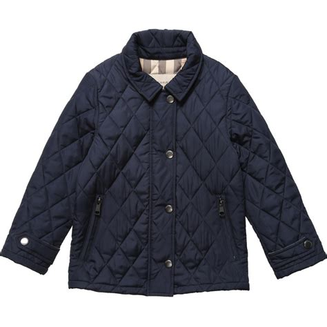 burberry boys navy blue quilted jacket children boutique