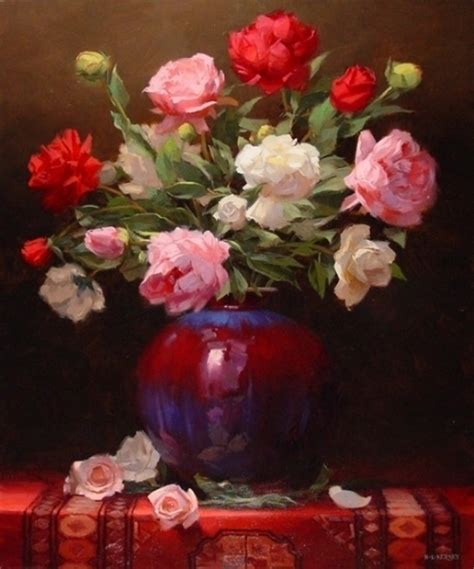 Famous Paintings Of Flowers In Vases Laurie Kersey 1961 Still Life Painter Tutt Art