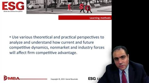 Mba Esg Uqam by Esg Uqam Executive Mba Mba8450 Strategic And Competitive