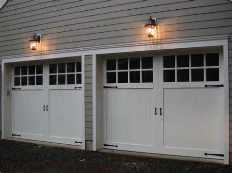 Vinyl Carriage House Garage Doors Ron Dulmaine Sons Vinyl Garage Door