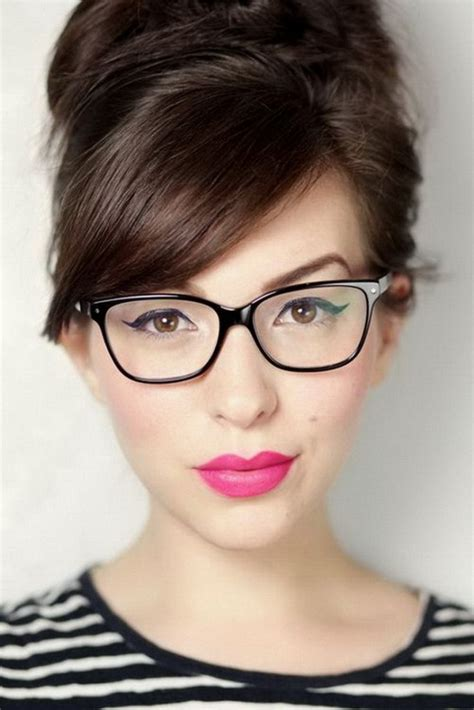 cute hairstyles for glasses 24 easy to do hairstyles with bangs and glasses